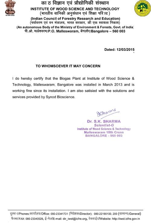 Synod Biosciences Certificates